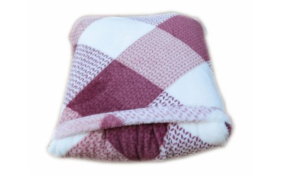 Cestovní deka káro starorůž