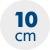 výška matrace 10 cm