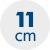 výška matrace 11 cm