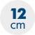 výška matrace 12 cm