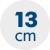 výška matrace 13 cm