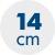 výška matrace 14 cm