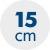 výška matrace 15 cm