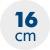 výška matrace 16 cm
