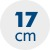 výška matrace 17 cm