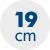 výška matrace 19 cm