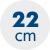 výška matrace 22 cm