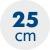 výška matrace 25 cm